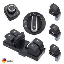 Fensterheber Schalter Lichtschalter Spiegel Set Für VW Golf 5 6 Passat 3C Chrom
