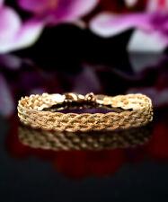 "Herringbone Chain Gorgeous Anklet (10"") Sevil 18K Gold Plated Flat Braided"