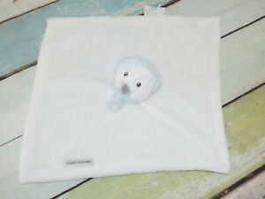Blankets & Beyond White Owl Scarf Earmuffs Plush Lovey Snowman Security Blanket