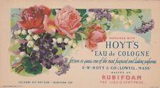 Ink Blotter Vintage HOYT'S Eau de Cologne E W Hoyt and Co Lowell, Mass