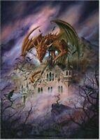 DRAGON ~ SNAGOV CASTLE 24x36 FANTASY ART POSTER Alchemy Gothic Dragons