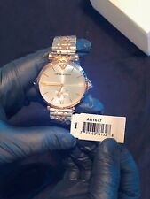 New Emporio Armani Women's Quartz Stainless Steel Two Tone Watch AR1677