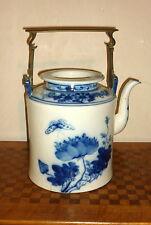 Importante théière porcelaine CHINE TEAPOT Xuande Qing Blanc blanc bleu Dynastie