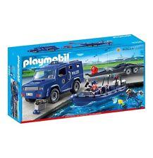 PLAYMOBIL 9396 Bundespolizei - Truck mit Schnellboot