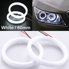 2pcs 80mm DRL COB LED Angel Eyes Halo Ring Fog Headlight Lamp Light White