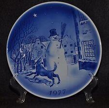 "1977 DESIREE HANS CHRISTIAN ANDERSON ""THE SNOW MAN"" CHRISTMAS PLATE-SVEND JENSEN"