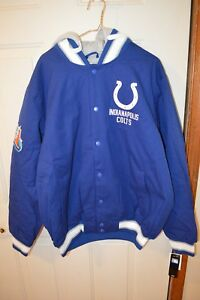 G-lll Indianapolis Colts Super Bowl Champs Coat With Hood XXL
