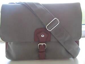 Quality Large Canvas Satchel Messenger Laptop College Travel Bag Olive Green