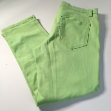 Joe Fresh Women's Slim Fit Light Green Cropped Pants Sz 8