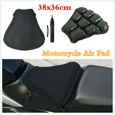 38x36cm Motorcycle Seat Cushion Shock Absorption Air-filled Pad+Mesh Cover+Pump