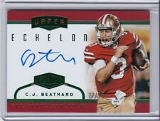 2017 PLATES & PATCHES UPPER ECHELON 22/25 C J BEATHARD CARD #UP-CB