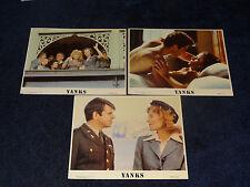 Yanks Lobby Card Lot of 3 1979 11x14 Richard Gere Lisa Eichorn Vanessa Redgrave