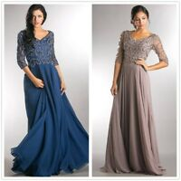 Gorgeous Beading Mother of the Bride Dresses Chiffon Lace Plus Size Custom