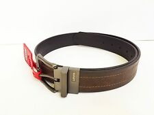 NEW! Authentic LEVI'S Men's Leather Reversible Belt Brown/Black Size 36