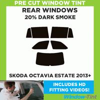 SKODA RAPID SPACEBACK 2013 5/% LIMO REAR PRE CUT WINDOW TINT