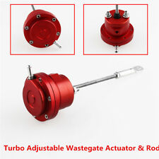 Red Aluminum Alloy Turbo Adjustable Wastegate Actuator & Rod Universal For Cars