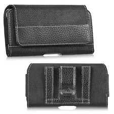 Horizontal Leather Belt Clip Pouch Case Cover FOR iPhone 11 Pro Max Samsung LG