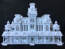 Miniature Victorian Train Station Depot HO Gauge Scale 1:87 Assembled Built Game