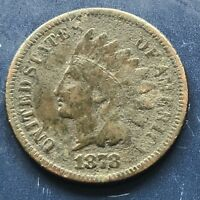 1878 Indian Head Penny One Cent 1c Better Grade VF Details #9970