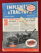 Implement & Tractor January 6, 1951 Vintage Farm Equipent Catalog