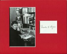 Ursula K. Le Guin Earthsea Sci-Fi Author Rare Signed Autograph Photo Display