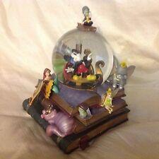 Disney Mickey Mouse Ariel Dumbo 75th Anniversary Musical Lite Up SnowGlobe-IOB