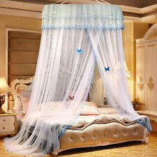 White Bed Canopy Lace Mosquito Net King Size Circular Curtain Mosquito Net