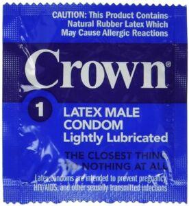 Crown Condoms Lubricated Latex Condoms 100 Pack