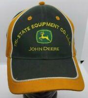 John Deere Tractor Hat Strapback Adjustable Green Yellow Tri-State Equipment Cap
