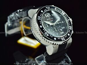 Invicta Men 52mm Grand Diver Ocean Voyage Chronograph Charcoal Dial SS Watch