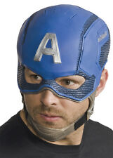 HALLOWEEN ADULT CAPTAIN AMERICA LATEX FULL MASK PROP MARVEL