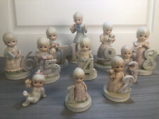 Vtge Lefton Birthday Girl Figurines Different Ages The Christopher Collection