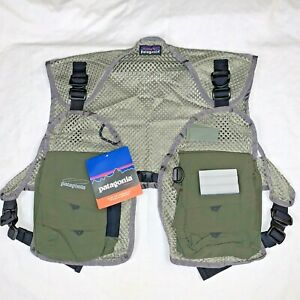 Patagonia Olive Green Mesh Master Fly Fishing Vest Men's XS/S (New with tags)