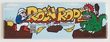 Roc N Rope Marquee FRIDGE MAGNET (1.5 x 4.5 inches) arcade video game header