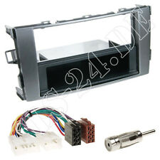TOYOTA Auris E1 Radioblende Fach anthrazit+ ISO Radiokabel+ Antenne Adapter Set