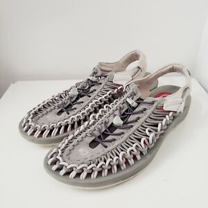 Keen Uneek X RFW Mens Size 14 Gray 2 Cord Lightweight Sport Water Sandal 1018681