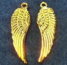 50Pcs. WHOLESALE Tibetan Gold-Plated WING Angel Pendant Charms Ear Drops Q0221