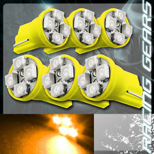6x For Scion Subaru Amber SMD 4 LED T10 Wedge Instrument Panel Gauge Light Bulbs