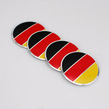 4X 56mm Car Wheel Center Caps Hub Cover Germany Flag Decal Stickers For BMW Audi