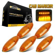 Set/5 Cab Clearance Roof Running Top 6 LED Amber Light for Freightliner Cascadia