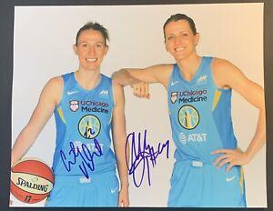 COURTNEY VANDERSLOOT ALLIE QUIGLEY Signed 8x10 Photo WNBA CHICAGO SKY Autograph