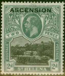 Ascension 1922 2d Black & Grey SG4 Fine Mtd Mint