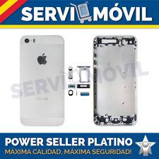 Carcasa Chasis para IPhone 5s Tapa Trasera Blanco Chasis Blanca Marco Plata