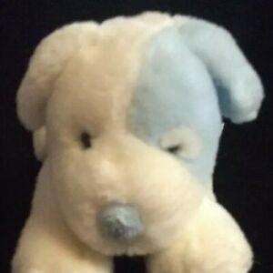 "HTF 8"" VTg Baby RUSS BERRIE SAMMY first PUPPY DOG RATTLE STUFF ANIMAL PLUSH TOY"