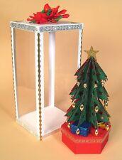 A4 plantilla de elaboración de Tarjetas 3D árbol de Navidad. Caja de Regalo Gratis Patrón de embarcaciones de cada £ 10 que se gasta
