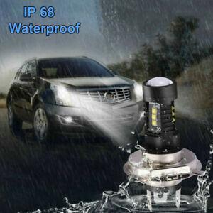 2Pcs 6000K H4 LED White Headlight Bulb Conversion Kits High Low Beam Fog Lamps