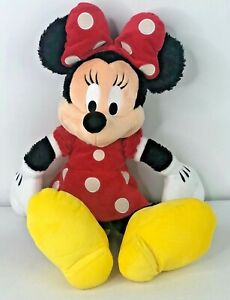 "Walt Disney World Minnie Mouse 20"" Plush Red Polka Dot Dress Authentic w/tag Toy"