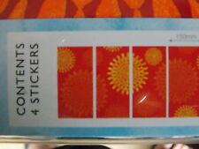 CHRYSANTHAMAN FLOWER RED ORANGE READYROLL SELF ADHESIVE STICKERS WALL ART DECOR