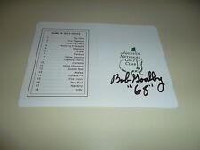 "Bob Goalby Hand Signed Masters Scorecard inscribed ""68"" Golf Autograph Signature"