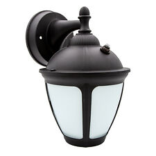 Maxxima LED Outdoor Wall Light, Frosted Glass, Dusk to Dawn Sensor, 550 Lumens